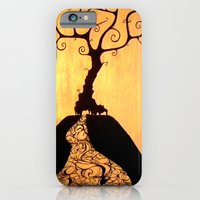 iPhone & iPod Case featuring She's Black Against the Sun by Guillermo de Llera
