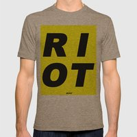 RIOT (BLACK AND YELLOW) Mens Fitted Tee Tri-Coffee SMALL