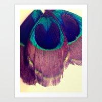 Peacocking Art Print