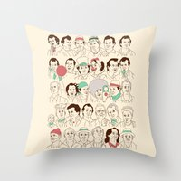 Many Murrays Throw Pillow