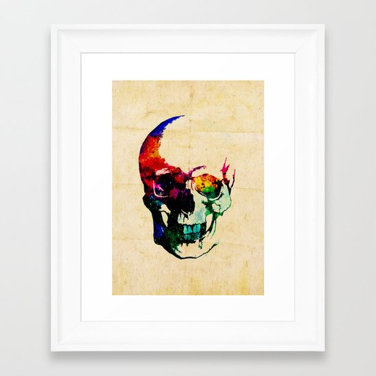 I live inside your face Framed Art Print