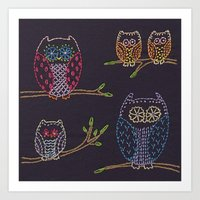 Night Owls Art Print