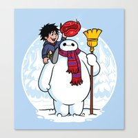 Inflatable Snowman Canvas Print