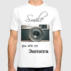 Smile SMALL White Mens Fitted Tee
