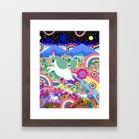 Gary the Farting Unicorn Framed Art Print
