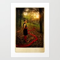 Lizzie Nunnery In The Ga… Art Print