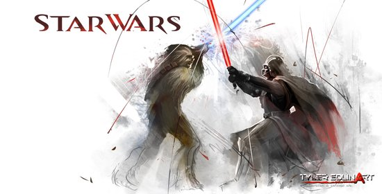 Star wars duel  Canvas Print
