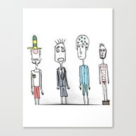 Little Monsters From My … Canvas Print