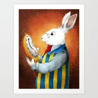 White Rabbit Art Print