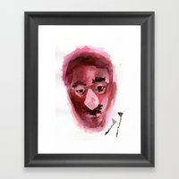 Sad & Clown Framed Art Print