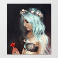 Little Spring Poppy Canvas Print