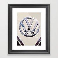 VW Camper Logo Badge Framed Art Print