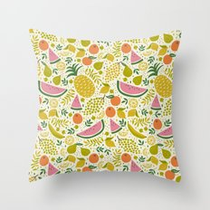 Fruit Mix Throw Pillow