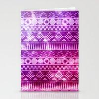 Tribal Fuschia.  Stationery Cards
