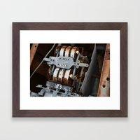 Old Gas Pump Framed Art Print