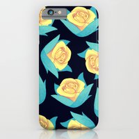 Yellow Rose Floral Pattern iPhone 6 Slim Case