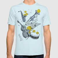 Jazz Jazz Jazz Mens Fitted Tee Light Blue SMALL