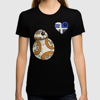 Droid Love Womens Fitted Tee Black SMALL