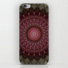 Mandala in red and beige tones iPhone & iPod Skin