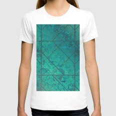 Green Marble Texture G29… Womens Fitted Tee White SMALL