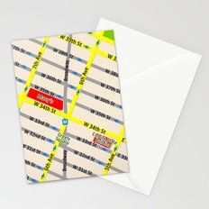 New York map design - empire state building area Stationery Cards