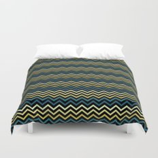 Chevron #265C73 Duvet Cover