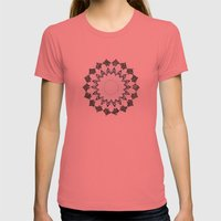 BOHOCHIC MANDALA IN CORAL Womens Fitted Tee Pomegranate SMALL