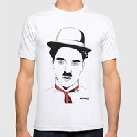 Charlie Chaplin Mens Fitted Tee Ash Grey SMALL
