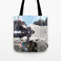 Summer space, smelting selves, simmer shimmers. [extra, 7] Tote Bag