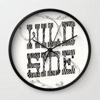 Wild side Wall Clock