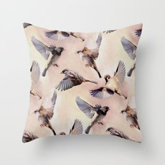 Sparrow Flight Throw Pillow