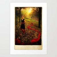 Lizzie Nunnery in the Garden Art Print