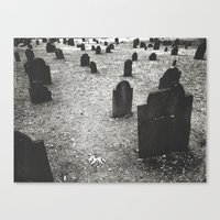 Tombstones Canvas Print