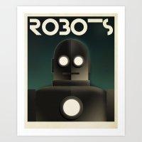 Cassandre Spirit - Robots Art Print