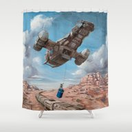 The Time Job - Firefly +… Shower Curtain