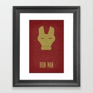 Iron Man - Minimalist Po… Framed Art Print