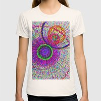 Circle art Womens Fitted Tee Natural SMALL