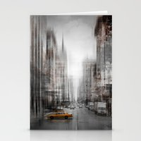 City-Art NYC 5th Avenue Yellow Cab Stationery Cards
