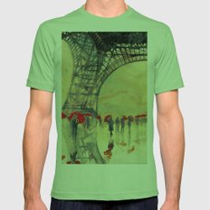 Winter in Paris Mens Fitted Tee Grass SMALL