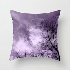 Purple Night  - JUSTART © Throw Pillow