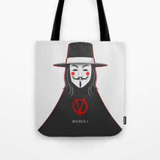 V for vendetta November 5 Minimal Poster Tote Bag
