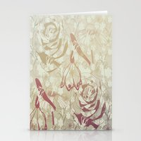 Retro Flowers Stationery Cards