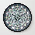 Mandala - Dark Muted & Worn Wall Clock