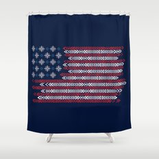 Native Patriots Shower Curtain