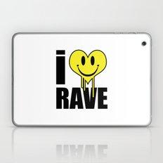 I Love Rave Music Quote Laptop & iPad Skin
