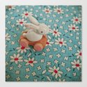 Bunny Blues Canvas Print