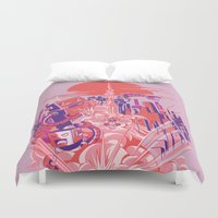 Smash! Zap!! Zooom!! - Big-Boobed Babe Duvet Cover