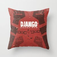 Django Unchained -  Quen… Throw Pillow