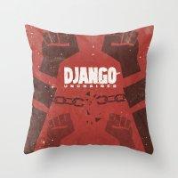 Django Unchained -  Quentin Tarantino Minimal Movie Poster Throw Pillow