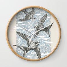 Free Bird (Three Swallows) Wall Clock